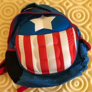 Captain America Abs Muscular backpack